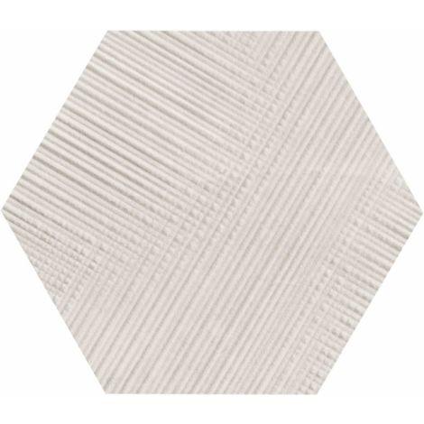 Provenza Eureka Bianco Tartan Esagona 22 x 19,3 cm