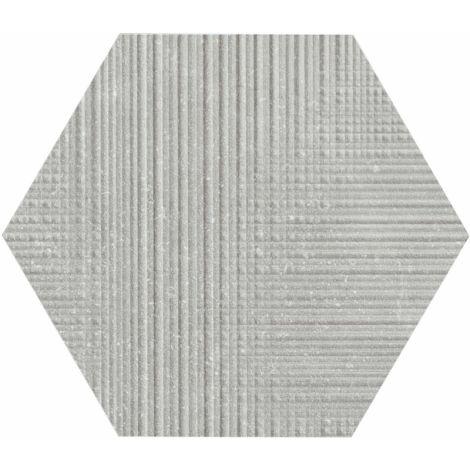Provenza Eureka Grigio Tartan Esagona 22 x 19,3 cm