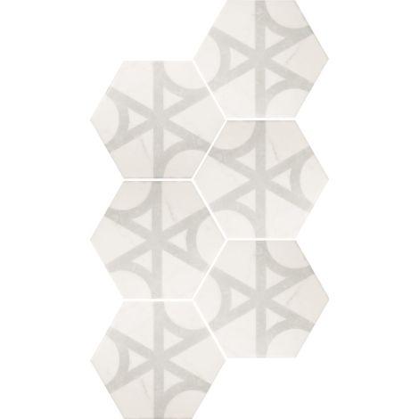 Equipe Carrara Hexagon Flow 17,5 x 20 cm