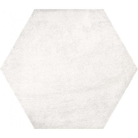 Vives Hexagono Bampton Nieve 23 x 26,6 cm