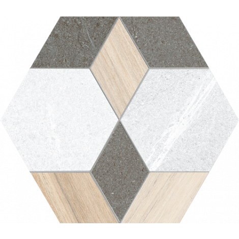 Vives Hexagono Mayeix Multicolor 23 x 26,6 cm