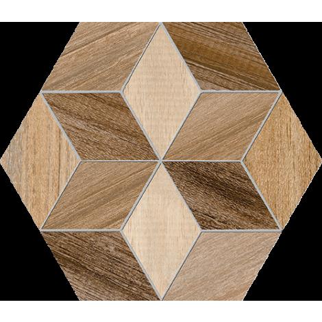 Vives Hexagono Freret Multicolor 23 x 26,6 cm
