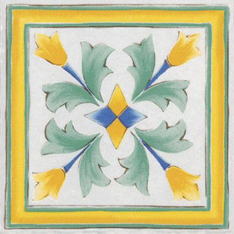 Savoia Antiche Riggiole Napoletane Ang. Santa Chiara 11 x 11 cm