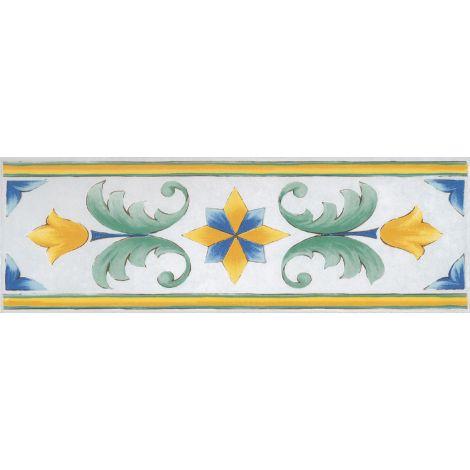 Savoia Antiche Riggiole Napoletane Fascia Santa Chiara 11 x 34 cm