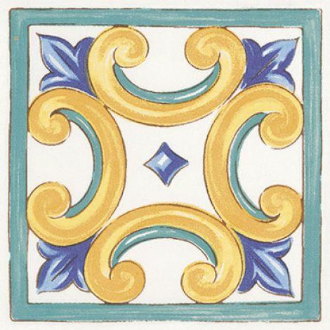 Savoia Antiche Riggiole Napoletane Ang. Marechiaro 11 x 11 cm