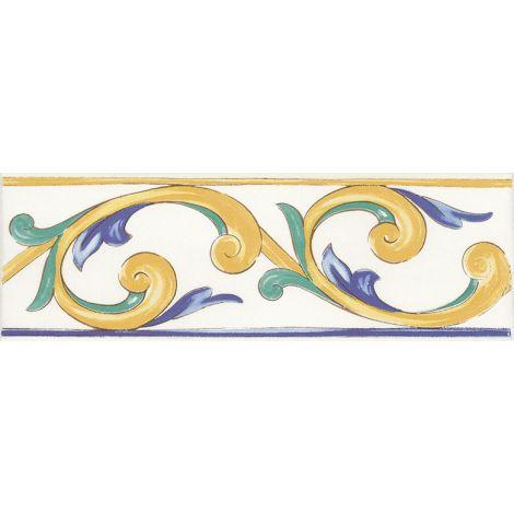 Savoia Antiche Riggiole Napoletane Fascia Marechiaro 11 x 34 cm