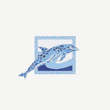 Savoia Antiche Riggiole Napoletane Inserto Delfini 22 x 22 cm
