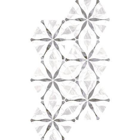Equipe Bardiglio Hexagon Flower 17,5 x 20 cm