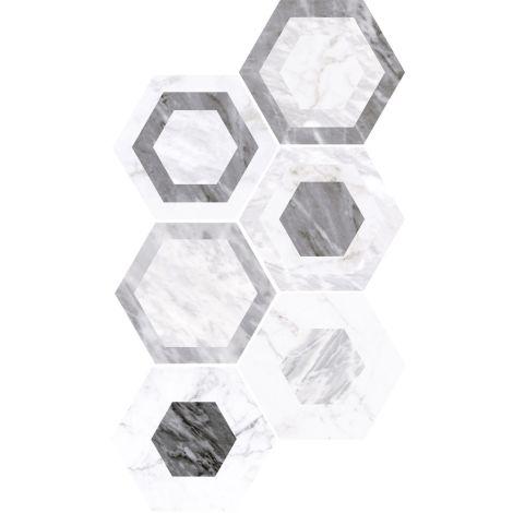 Equipe Bardiglio Hexagon Geo 17,5 x 20 cm