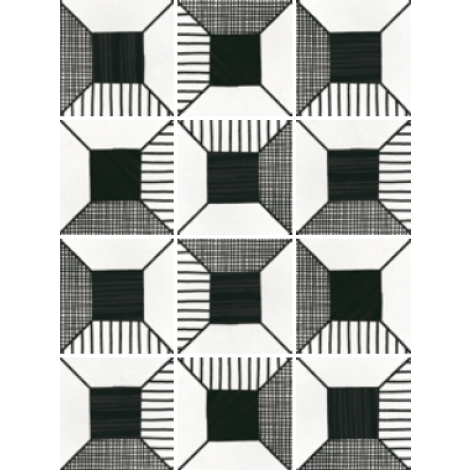 Equipe Caprice Deco Block B&W 20 x 20 cm