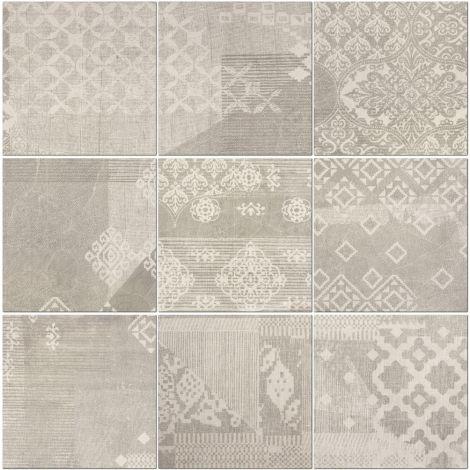 Provenza Decoro Patchwork Pearl Grey 20 x 20 cm