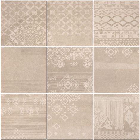 Provenza Decoro Patchwork Taupe Linen 20 x 20 cm