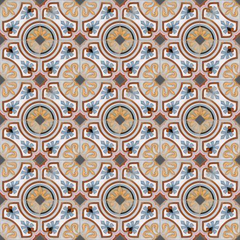 Vives Octogono Diglas Multicolor 20 x 20 cm
