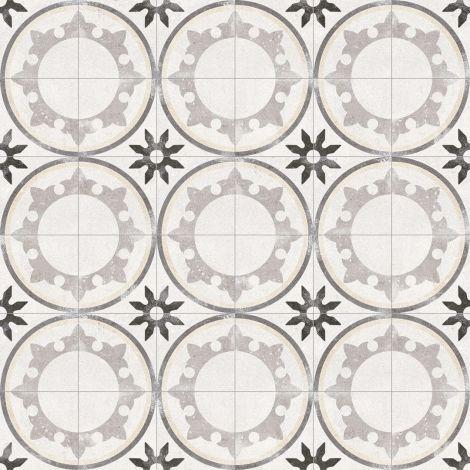 im Verbund, Verlegebeispiel, 1 Kreis besteht aus 4 Fliesen