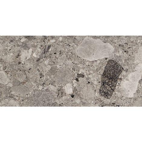 Fioranese Frammenta Grigio Scuro Lucidato 60,4 x 120,8 cm