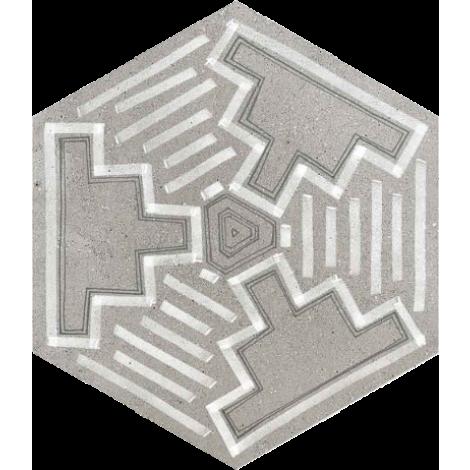 Vives Hexagono Igneus Cemento 23 x 26,6 cm
