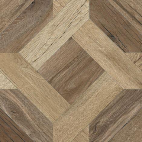 Flaviker Nordik Wood Mansion Gold / Brown 60 x 60 cm