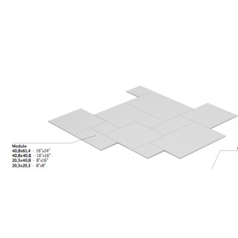 Coem Loire Avorio Modulo Esterno 40,8 x 61,4 cm / 40,8 x 40,8 cm / 20,3 x 40,8 cm / 20,3 x 20,3 cm