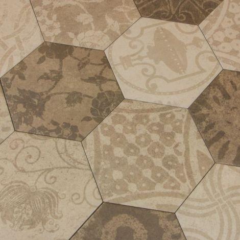 Argenta Atlas Hexagon Patchwork Warm 25 x 21,6 cm