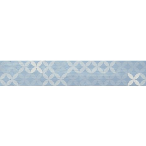 Savoia Smeralda Decoro Azzurro 20 x 120 cm